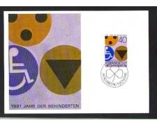 1981 - LBF/3593 - LIECHTENSTEIN - ANNO INTERNAZIONALE DISABILI - MAX