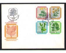 1981 - LBF/4112 - ISOLE AZZORRE - FIORI LOCALI - BUSTA FDC