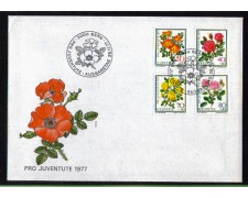 1977 - LBF/4148 - SVIZZERA  - FIORI  ROSE - BUSTA FDC