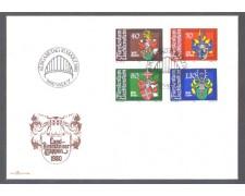 1980 - LBF/4120 - LIECHTENSTEIN - STEMMI LANDAMMANNI - BUSTA FDC