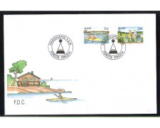 1991 - LBF/4091 - ISOLE ALAND - TURISMO 2v. - BUSTA FDC