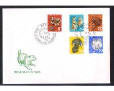 1965 - LBF/4141 - SVIZZERA - PRO JUVENTUTE 4v. - BUSTA FDC