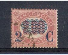 1878 - LOTTO/REG34UA - REGNO - 2c. SU 2,00 LACCA  USATO