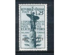 1954 - LOTTO/10379N - TRIESTE A - 25 LIRE TRASPORTO CON ELICOTTERO NUOVO