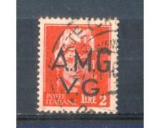 1945 - LOTTO/AMG9U - VENEZIA GIULIA - 2 LIRE CARMINIO USATO