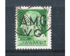 1945 - LOTTO/AMG12U - VENEZIA GIULIA - 20 LIRE  VERDE USATO