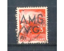 1945 - LOTTO/AMG15U - VENEZIA GIULIA - 3 LIRE DEMOCRATICA USATO