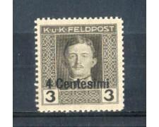 1918 - LOTTO/OCA3N - OCCUPAZ.AUSTRIACA - 4 CENT. SU 3 H.  NUOVO