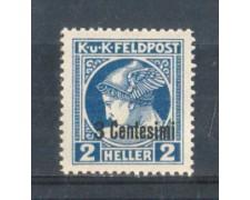 1918 - LOTTO/OCAG1N - OCCUPAZ.AUSTRIACA - 3 CENT. SU 2 H. GIORNALI NUOVO