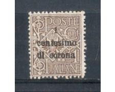 1919 - LOTTO/TT1L - TRENTO e TRIESTE  - 1 CENT. SU 1 CENT. BRUNO
