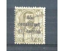 1919 - LOTTO/TT8U - TRENTO e TRIESTE  - 45 CENT. SU 45 CENT. OLIVA USATO