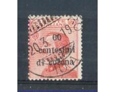 1919 - LOTTO/TT10U  - TRENTO e TRIESTE  - 60 CENT. SU 60 CENT. CARMINIO USATO