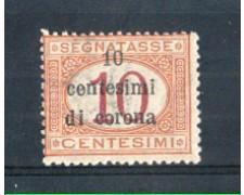 1919 - LOTTO/TTT2N - TRENTO e TRIESTE - 10c. SU 10c. SEGNATASSE NUOVO