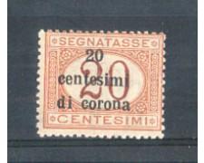 1919 - LOTTO/TTT3N - TRENTO e TRIESTE  - 20c. SU 20c. SEGNATASSE NUOVO