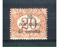 1919 - LOTTO/TTT3U - TRENTO e TRIESTE - 20c. SU 20c. SEGNATASSE USATO