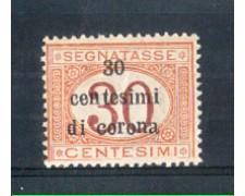 1919 - LOTTO/TTT4N - TRENTO e TRIESTE -  30c. SU 30c. SEGNATASSE NUOVO