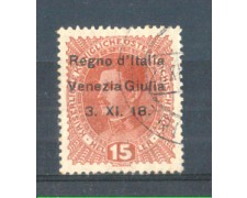 1918 - LOTTO/VNG6U - VENEZIA GIULIA - 15h. ROSSO BRUNO USATO