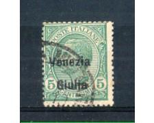 1918/19 - LOTTO/VNG21U - VENEZIA GIULIA - 5c. VERDE USATO