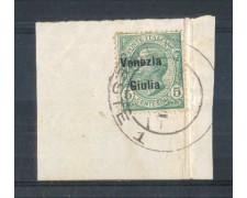 1918/19 - LOTTO/VNG21UF - VENEZIA GIULIA - 5c. VERDE SU FRAMMENTO