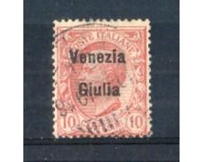 1918/19 - LOTTO/VNG22U - VENEZIA GIULIA - 10c. ROSA USATO