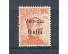 1918/19 - LOTTO/VNG23L - VENEZIA GIULIA - 20c. ARANCIO LING.