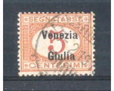 1918 - LOTTO/VNGT1U - VENEZIA GIULIA - 5c. SEGNATASSE USATO