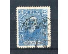 1920 - LOTTO/FIU105U - FIUME  - 25c. AZZURRO USATO