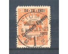 1922 - LOTTO/FIU167U - FIUME - 20c. ARANCIO USATO