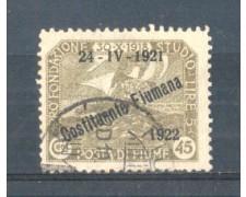 1922 - LOTTO/FIU168U - FIUME - 45c. OLIVA USATO