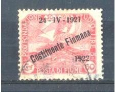 1922 - LOTTO/FIU169U - FIUME - 60c. CARMINIO USATO