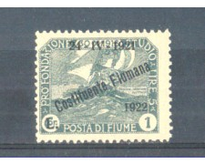 1922 - LOTTO/FIU171L - FIUME - 1 LIRA ARDESIA LING.