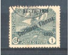 1922 - LOTTO/FIU171U - FIUME - 1 LIRA ARDESIA USATO