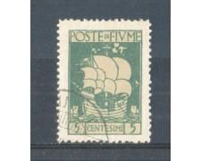 1923 - LOTTO/FIU175U - FIUME - 5c. VERDE S.VITO USATO
