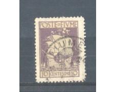 1923 - LOTTO/FIU176U - FIUME - 10c. VIOLETTO S.VITO USATO