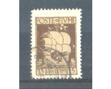 1923 - LOTTO/FIU177U - FIUME- 15c. BRUNO S.VITO  USATO
