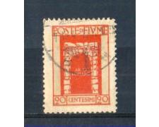 1923 - LOTTO/FIU178U - FIUME - 20c.VERMIGLIO S.VITO USATO