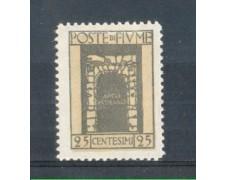 1923 - LOTTO/FIU179L - FIUME - 25c. GRIGIO S.VITO LING.