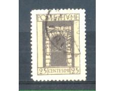1923 - LOTTO/FIU179U - FIUME - 25c. GRIGIO S.VITO USATO