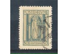 1923 - LOTTO/FIU181U - FIUME  - 50c. AZZURRO S.VITO USATO