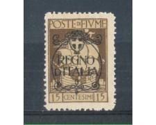 1924 - LOTTO/FIU189L - FIUME - 15c. BRUNO LING.