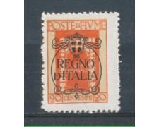 1924 - LOTTO/FIU190L - FIUME - 20c. VERMIGLIO LING.