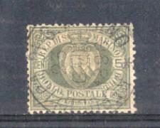 1892/94 - LOTTO/RSM13U - SAN MARINO - 5c. VERDE GRIGIO USATO