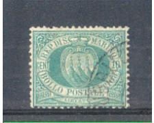 1892/94 - LOTTO/ RSM14U - SAN MARINO - 10c. VERDE LING.