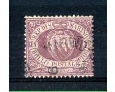 1894 - LOTTO/RSM29U - SAN MARINO - 20c.  LILLA VIOLA USATO