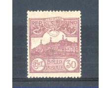 1921/23 - LOTTO/RSM75L - SAN MARINO - 30c. LILLA LING.
