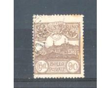 1921/23 - LOTTO/RSM79U - SAN MARINO - 90c. BRUNO USATO