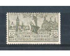 1923 - LOTTO/RSM88L - SAN MARINO - BANDIERA DI ARBE  LING.