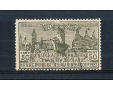 1923 - LOTTO/RSM88U - SAN MARINO - BANDIERA DI ARBE USATO