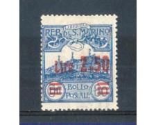 1926 - LOTTO/RSM122L - SAN MARINO - 2,50 SU 80c. AZZURRO LING.