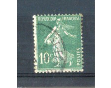 1921 - LOTTO/FRA159U - FRANCIA  - 10c. VERDE SEMINATRICE USATO